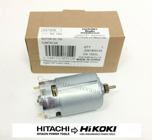 Motore ricambio originale 12 Volt Hitachi Hikoki 337406 per avvitatore KC10DFL2