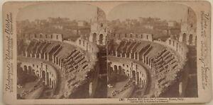 Roma-Il-Monte-Palatin-Del-Colosseo-Italia-Foto-Stereo-Vintage-Albumina-1897
