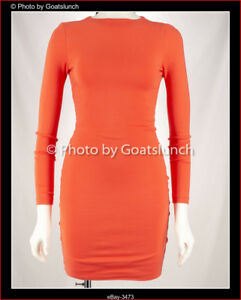 Kookai-Bodycon-Long-Sleeve-Dress-Size-6-8-1-New-With-Tags