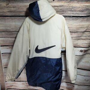 Vintage-NIKE-Mens-Size-XL-Full-Zip-Hooded-Parka-Coat-Reflective-Block-Swoosh