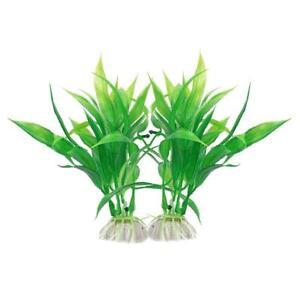 2 Wasser Aquatische Kunstliche Pflanze Bambus Kunststoff Aquarium