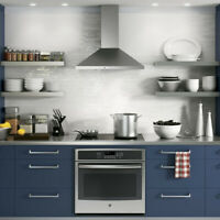 """GE 30"""" Wall-Mount Pyramid Chimney Range Hood - IN STOCK !!! Bedford Halifax Preview"""