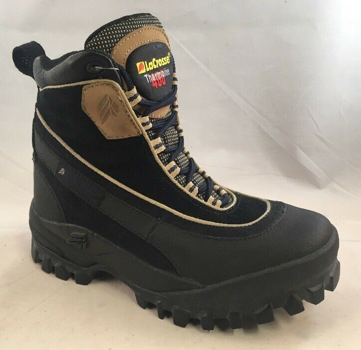 """LaCrosse Snow Rover 6"""" Navy/Black/Tan Womens Boots Size 6"""