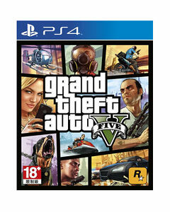 Grand-Theft-Auto-V-GTA-5-PlayStation-PS4-2014-English-Chinese-Factory-Sealed