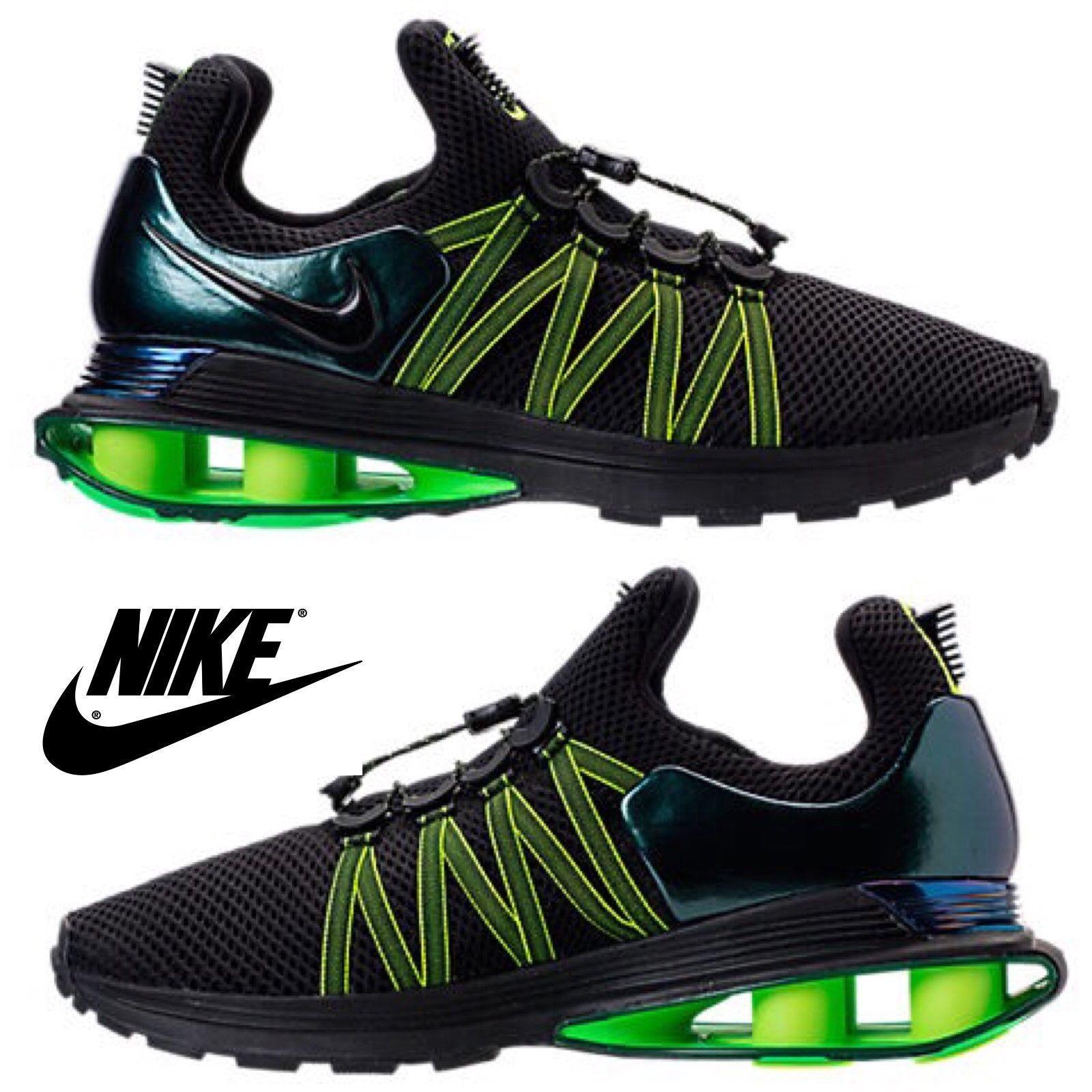 NIB Authentic NEW Homme Nike Shox Gravity AR1999-003 Chaussures Vapor Reax Bk Grn