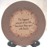 Happiest Moments Spent With Family Wooden Plate Artist Barbara Lloyd