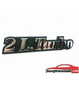 Monogramme-2L-Turbo-pour-RENAULT-21-logo-CHROME