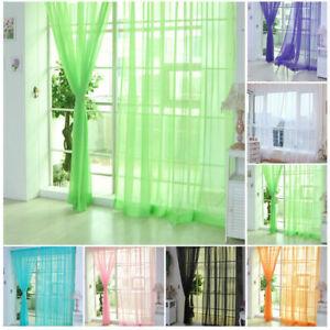 Window-Scarf-Balcony-Voile-2mx1m-House-Hot-Door-Panel-Tulle-Curtain-Drape-Sheer