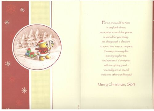 Various Designs /& Sizes To Choose From Traditional Cute Son Christmas Card