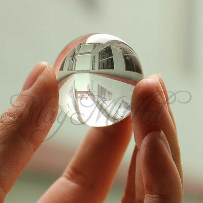Asian Quartz White Clear Natural Crystal Healing Ball Sphere 40mm Practical L