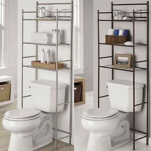 Marvelous Details About Metal 3 Shelf Bathroom Over The Toilet Space Saver With Liner Nickel Or Bronze Pabps2019 Chair Design Images Pabps2019Com