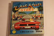 COMMODORE 64 (C64) 128 OUT RUN BY SEGA/U.S.GOLD CASSETTE GAME AND MUSIC TAPE