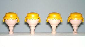Playmobil-Western-Oeste-Pelos-Amarillos-Accesorios-soldados-Pelo-Rubio-Custom