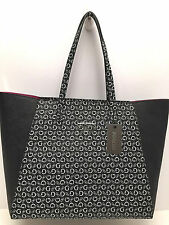 GUESS Women's Large Tote *ONYX/White w/ Silver Logo *Travel Shoulder Bag *New