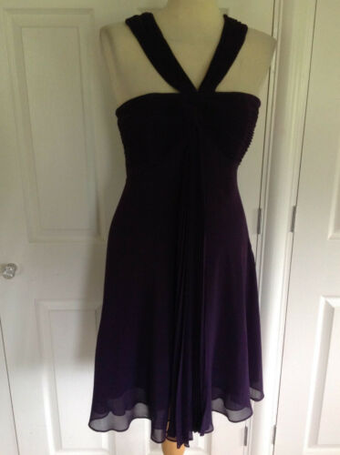 10 Dyp Lilla £ Dress Bnwt Uk Coast Knelengde Bedøvelse Twist 115 Grecian cF5OHq