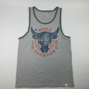 458c76d2fe10fe Under Armour Project Rock 96 World Champion Mens Tank Top Grey ...