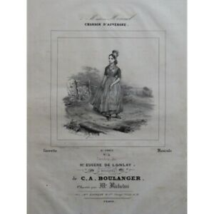 Details About Boulanger C A Song D Auvergne Song Piano Ca1840 Score Sheet Music Scor Show Original Title