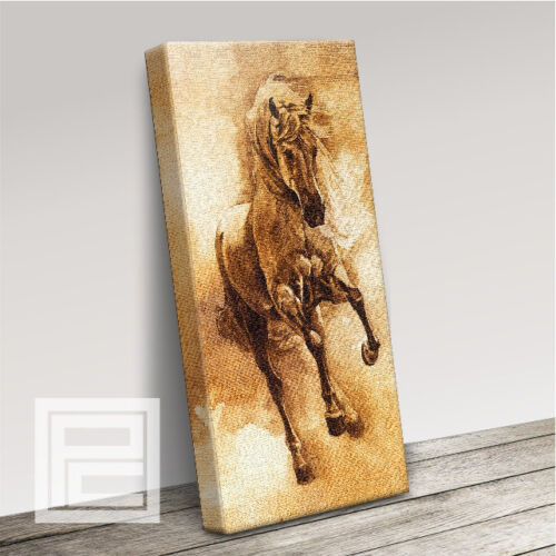 WILD PRANCING HORSE IMPRESSIVE MODERN CANVAS ART PRINT PICTURE UPGRADE 120x56cm