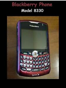 BlackBerry-Style-8330-Sprint-Maroon-Red-Smartphone-Cell-Phone