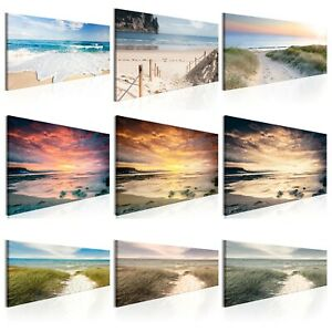 Spiaggia Mare Quadro su Tela TNT Stampe Immagini Murale Decorazione c-A-0049-b-b
