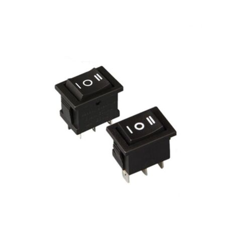 5x 3 Position Rectangular Rocker Switch Black 6 Pin ON-OFF-ON 250V//6A 125V//10A