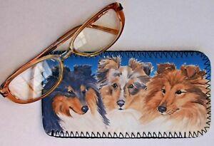SHETLAND-SHEEPDOG-SHELTIE-DOG-NEOPRENE-GLASS-CASE-POUCH-SANDRA-COEN-ARTIST
