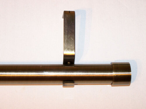 28mm Antique Brass Eyelet Curtain Pole With End Cap Finials 1.2m 1.5m 2.4m 3m
