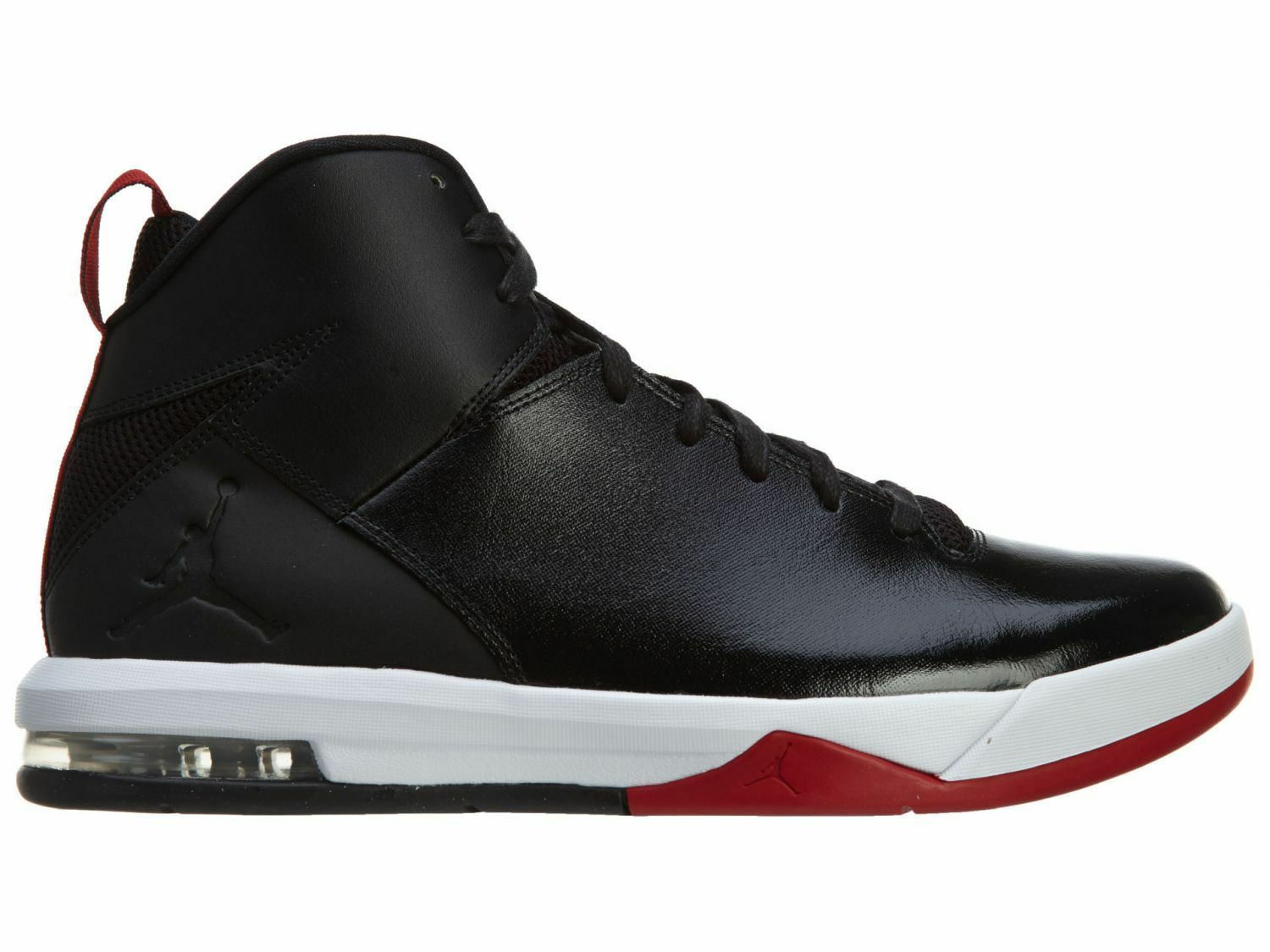 Jordan Air Imminent Mens 705077-001 Black White Red Leather shoes Size 10