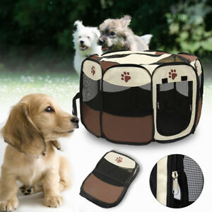 Large-Dog-Pet-Cat-Playpen-Tent-Portable-Exercise-Fence-Kennel-Cage-Oxford-Crate