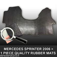 Mercedes Merc Sprinter Van Rubber Floor Mat Mats Black Front 2006> 1 Piece Mat