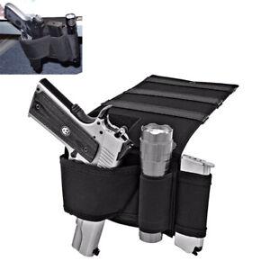 concealed under mattress car seat pistol holster closet wall mount
