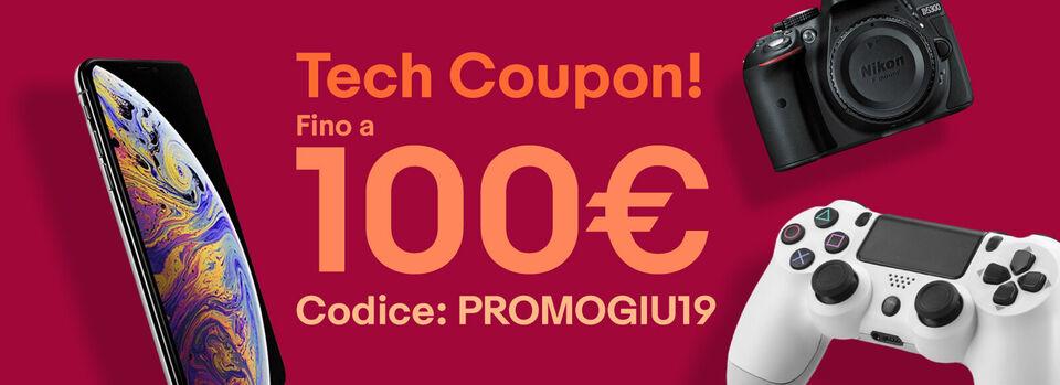 Codice: PROMOGIU19 - Tech coupon fino a 100€!