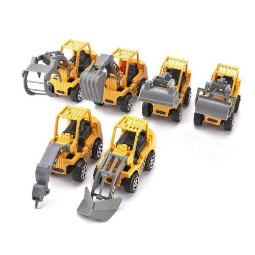 6X Kids Mini Car Toys Lot Vehicle Sets Educational Toys Engineering vehicle #ORP