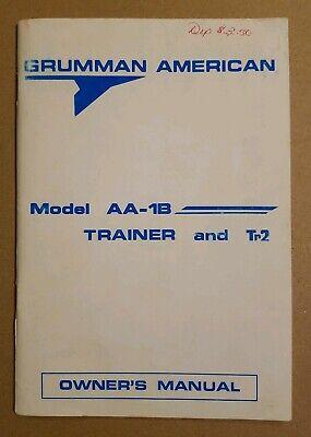 Grumman Lynx AA-1C POH Original print Owners Manual hard cover