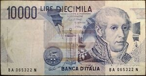 Image Is Loading Italy Banknote 10000 Lire Year 1984 Alessandro Volta
