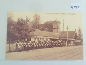 Singapore-Tank-Road-Railway-Station-Old-Reproduction-Postcard-195