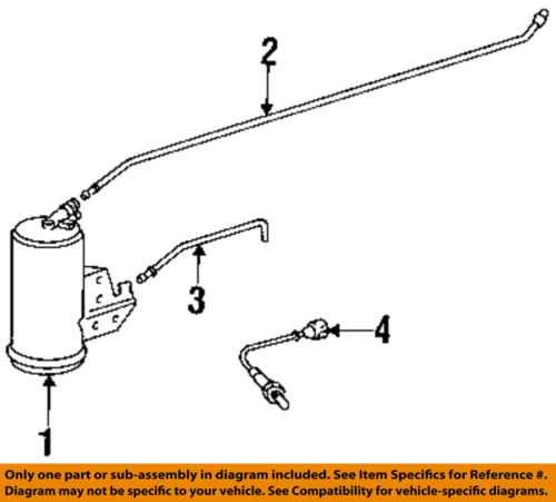 BMW OEM 1997 318ti 1.9L-L4 Emission System-Vent Breather Tube 16131182866