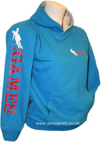 Les jeux équestres monté poney club Mesdames pour hommes filles garçons équitation Sweat à capuche