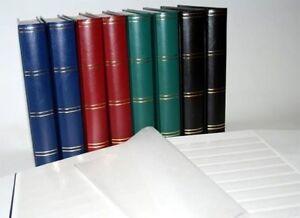 Luxus-A4-Briefmarkenalbum / -Einsteckbuch 60 weiße Seiten blauer Einband