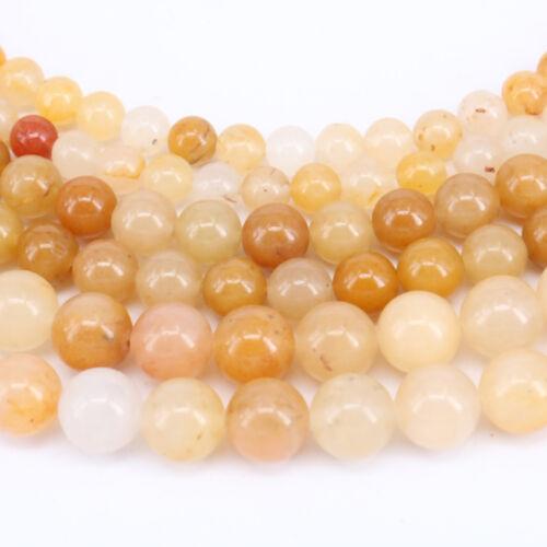 "15/"" Aventurine Jade Gemstone Round Loose Spacer Beads Jewelry Finding 4//6//8//10MM"