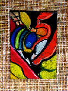 ACEO-original-pastel-painting-outsider-folk-art-brut-010183-abstract-surreal