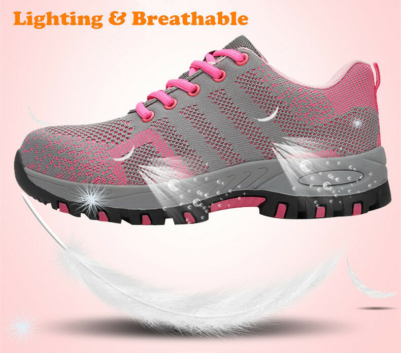 Womens Fashion Safety shoes Steel Toe Breathable Hiking Hiking Hiking Climbing Work Boots fa102f