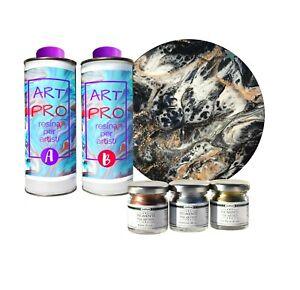 Resine-Epoxy-Transparent-1-6-kg-3-Pigments-Metallique-pour-Resin-Art