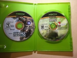 Lot-Of-2-Xbox-Games-Tom-Clancy-Ghost-Recon-Advanced-Warfighter-Military-Game
