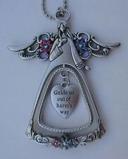 o Guide us out of harms way Angel Blessings 3d CAR CHARM Mirror ornament ganz