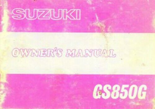 1979 Suzuki GS850GN Motorcycle Owners Manual