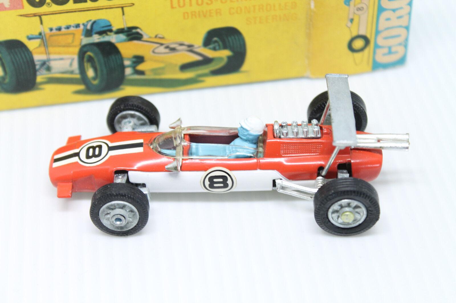 Corgi toys 158  Lotus Climax formula 1  1 43  original  embalaje original  Mint  leaflet