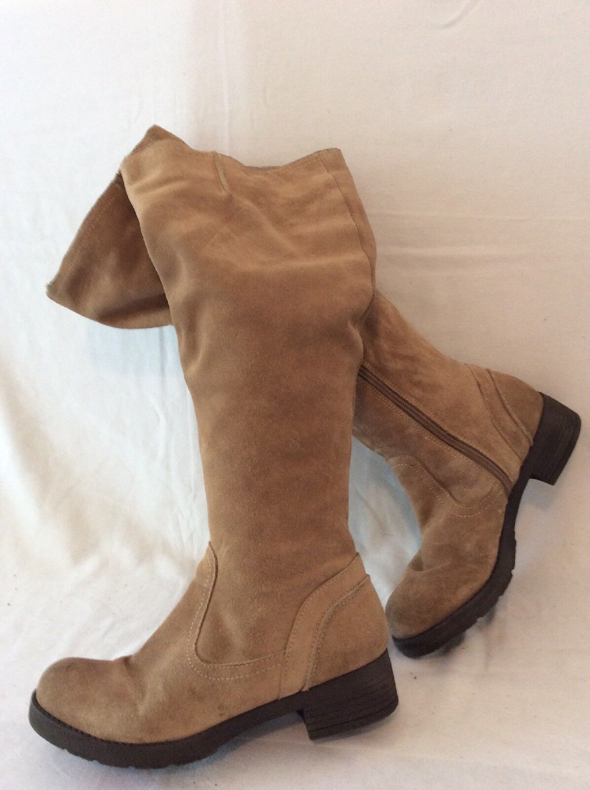 Florence Studio Brown Knee High Suede Boots Size 38