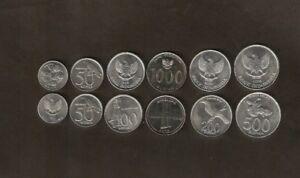INDONESIA 100 200 500 1000 RUPIAH 2010-2016 UNC COIN SET OF 4