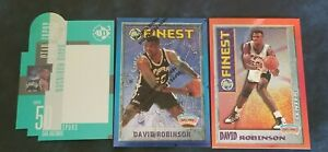 (3) DAVID ROBINSON 1995 Topps Finest Refractor #245 + Finest #M11+ UD3 / Mint